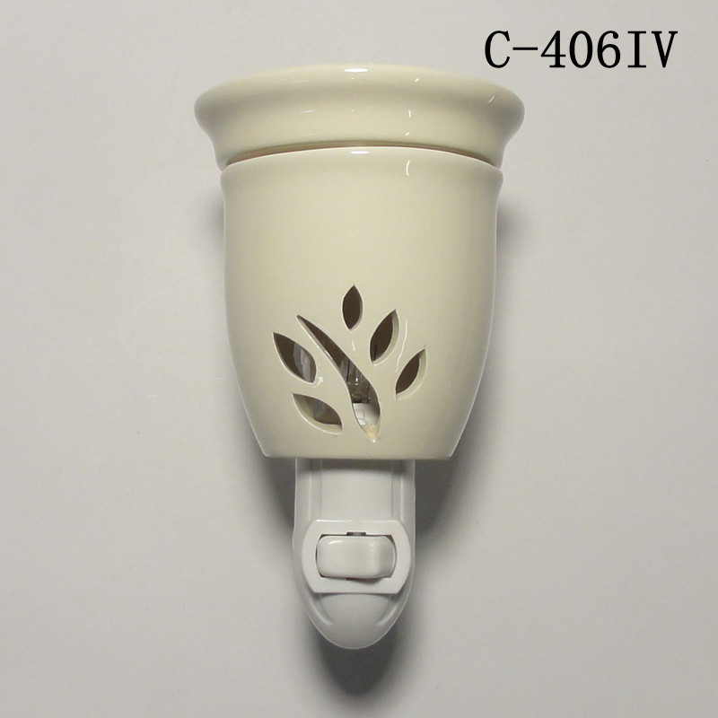 Plug In Diffuser : Ceramic electric plug in nightlight scent oil diffuser