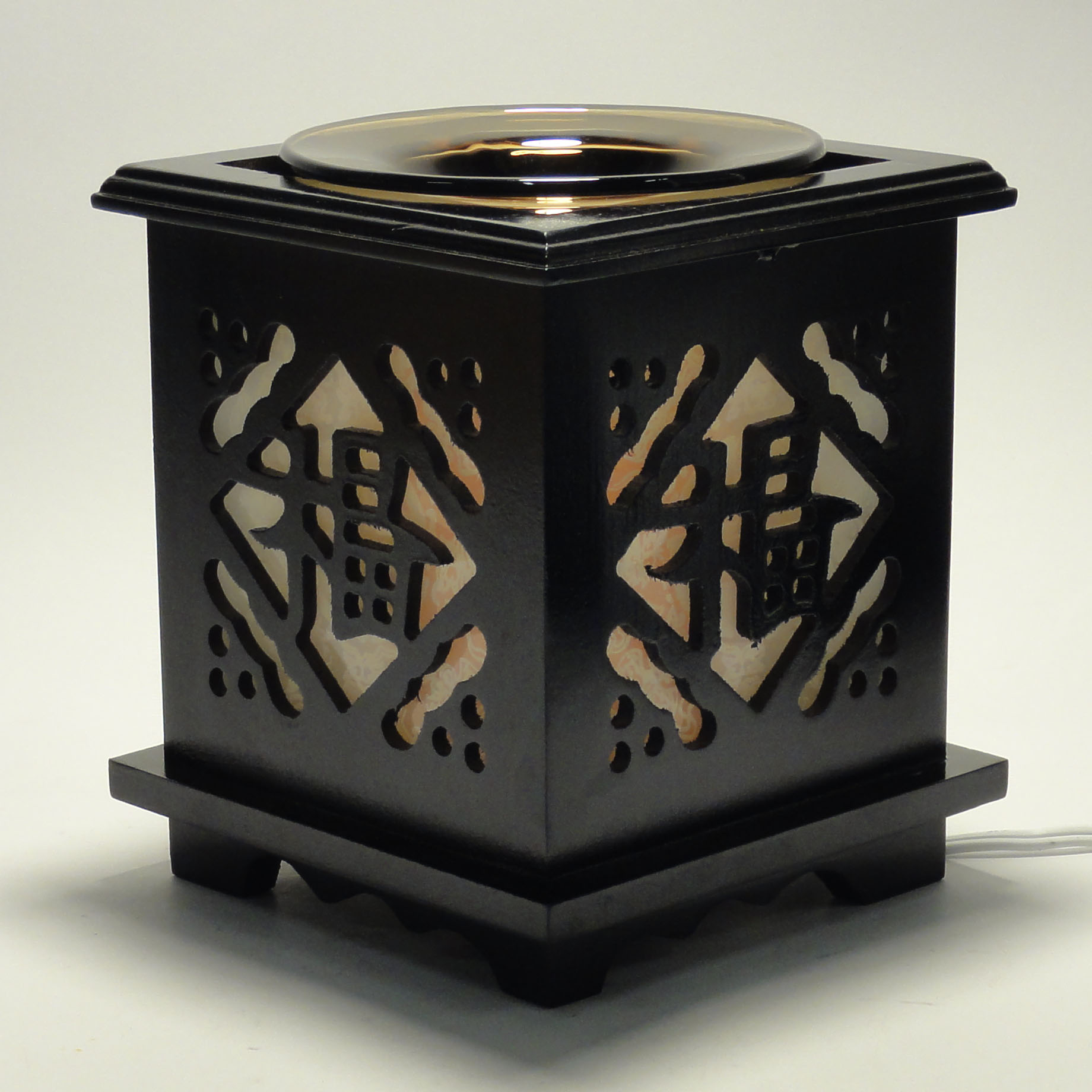 Electric Oil Warmers ~ Chinese wooden electric scent oil diffuser warmer burner