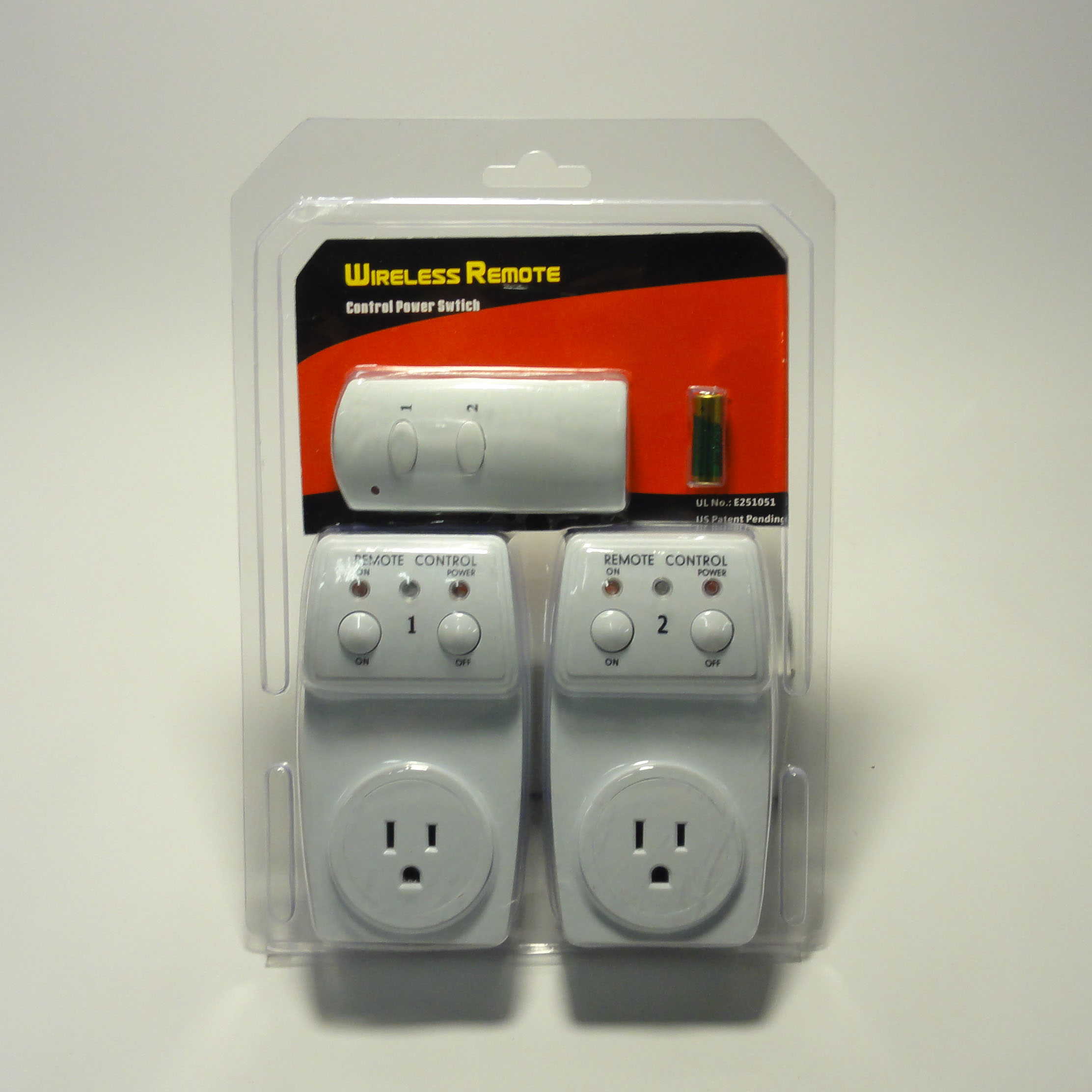 wireless remote control outlet 2 pack ac power light switch socket plug switch ebay. Black Bedroom Furniture Sets. Home Design Ideas